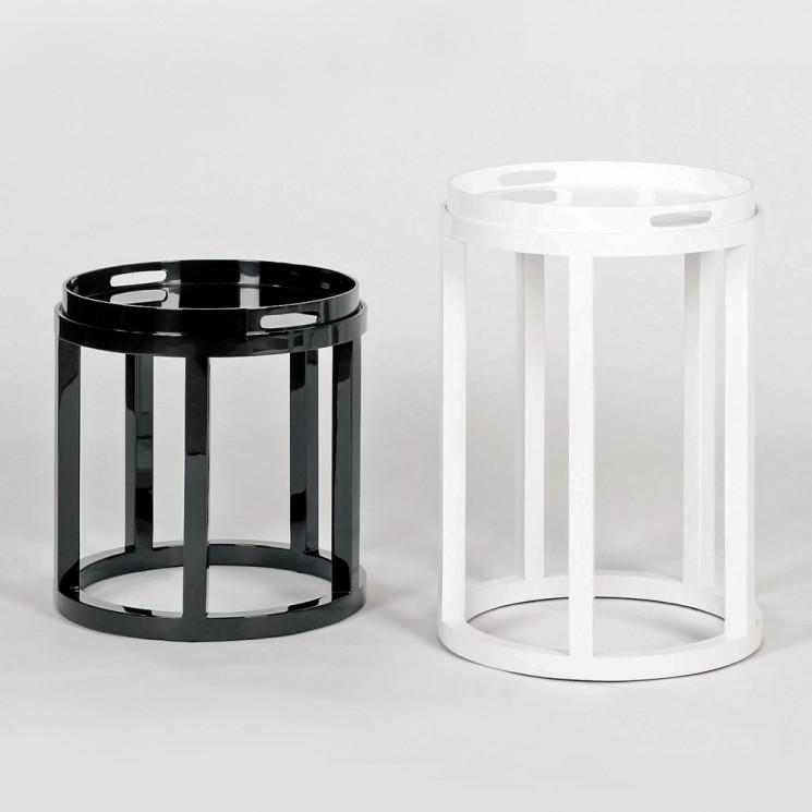 Lambert Ankor Tablett-Tisch rund schwarz 2 Größen