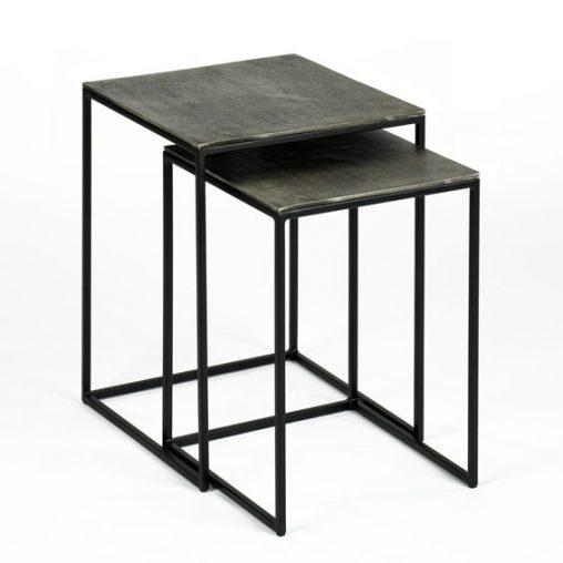 Lambert Dado Beistelltisch-Satz Tischplatte Aluminium