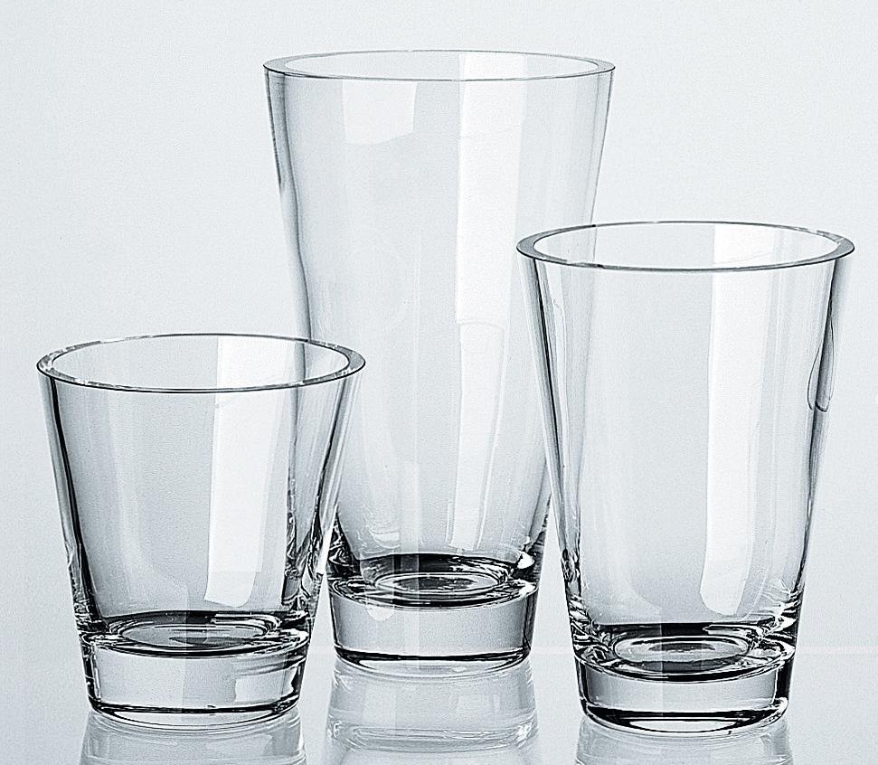 Lambert David Vase, Kristallglas klar, verschiedene Ausführungen