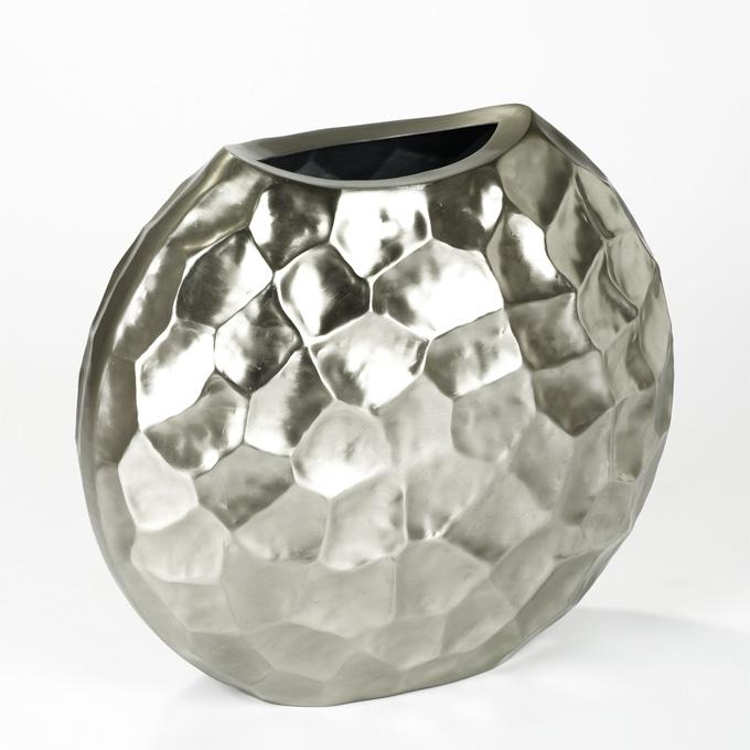 Lambert Farah Vase Aluminium, galvanisiert, mattzinn