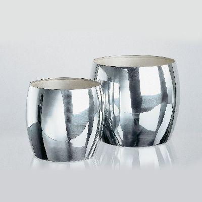 Lambert Ming Vase/Übertopf versilbert, verschiedene Größen