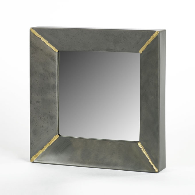 lambert aninanda spiegel quadrat eisen silber grau. Black Bedroom Furniture Sets. Home Design Ideas