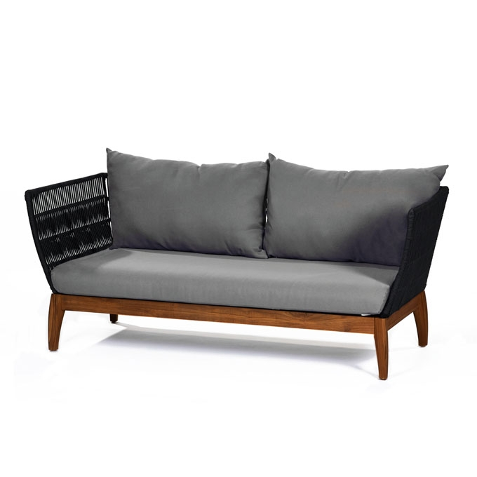 Lambert miikka outdoor sofa mit wp holzgestell teak for Sofa exterior 120 cm