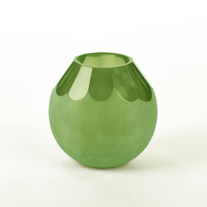 lambert rocca vase gr n glas facettenoptik matt lambert. Black Bedroom Furniture Sets. Home Design Ideas