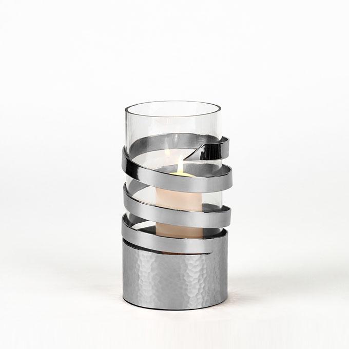 lambert spiral windlicht vernickelt lambert m bel shop exklusives wohndesign. Black Bedroom Furniture Sets. Home Design Ideas