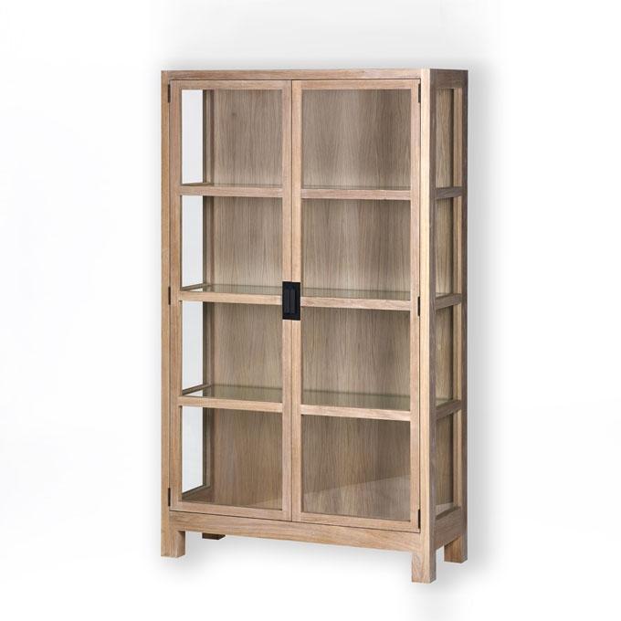 lambert vista vitrinenschrank rahmen eiche massiv. Black Bedroom Furniture Sets. Home Design Ideas
