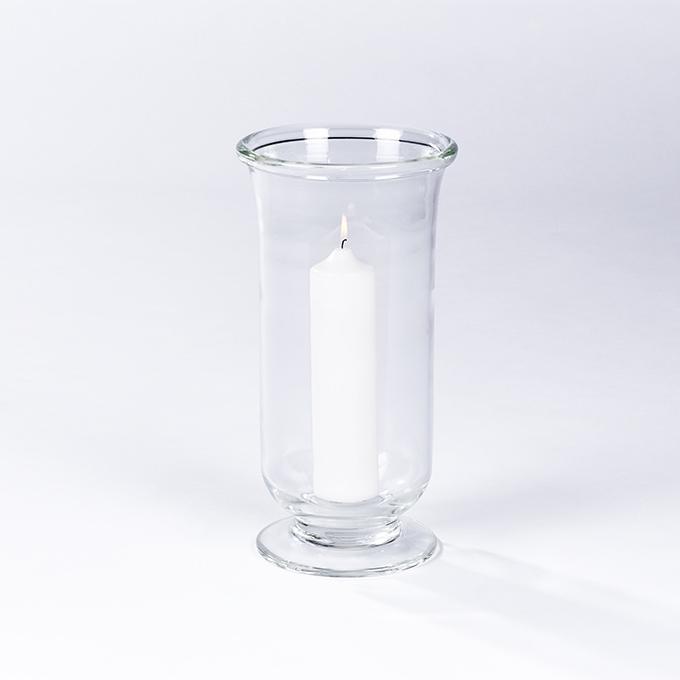 Lambert Venezia Windlicht Glas klar, mundgeblasen, verschiedene Größen
