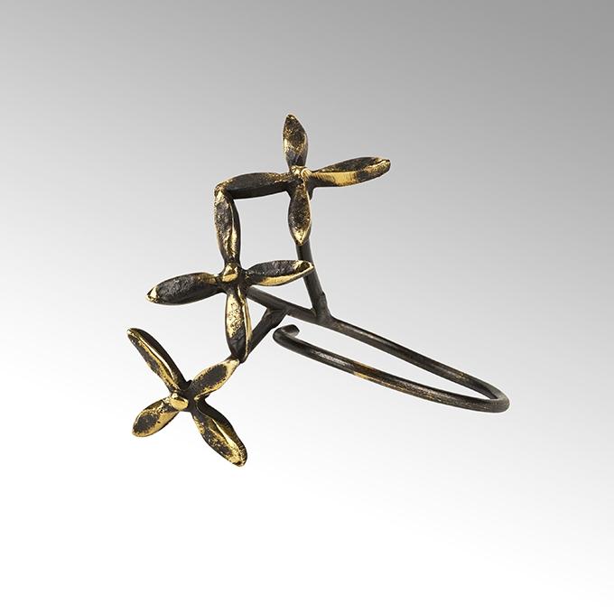 Lambert Haruko Serviettenring antik graphit/goldfarbig