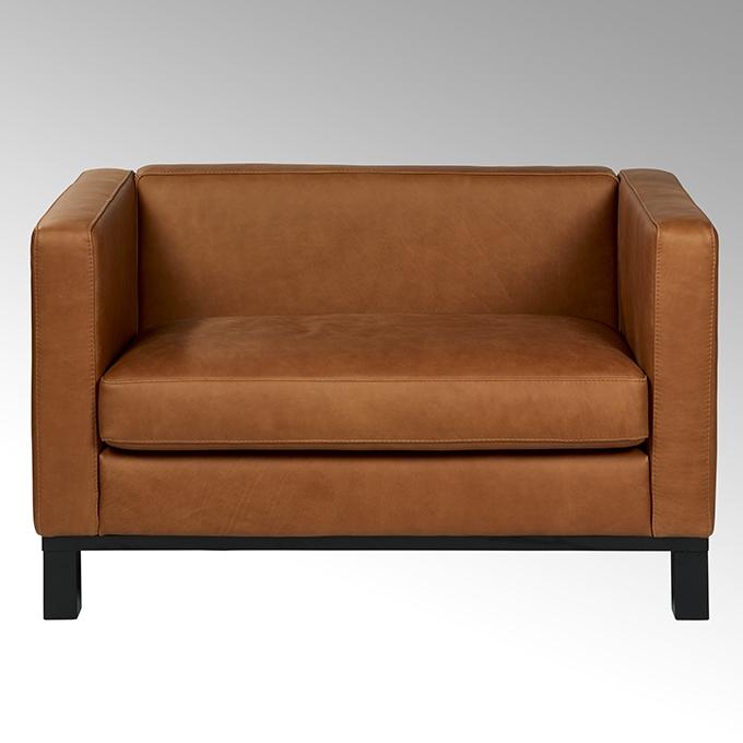 lambert bella sofa festbezogen mit leder rahmen und f e massivholz schwarz gebeizt 120x72x70. Black Bedroom Furniture Sets. Home Design Ideas