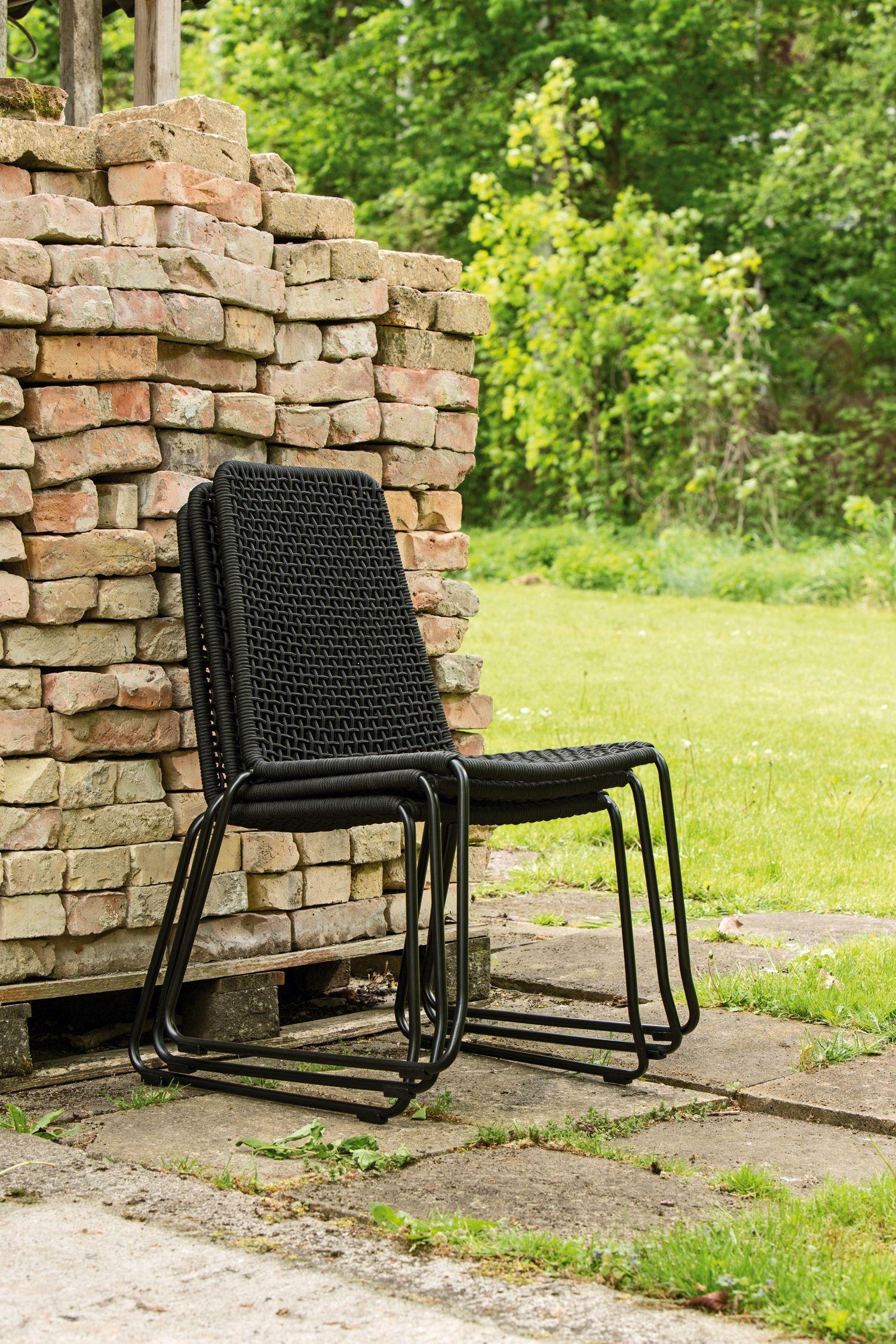 lambert patti outdoorstuhl stapelbar schwarz grau. Black Bedroom Furniture Sets. Home Design Ideas