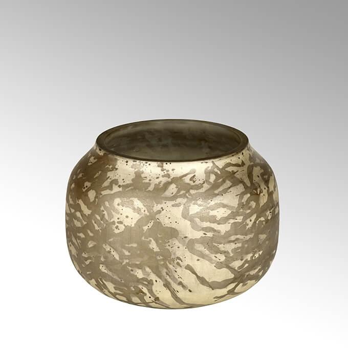Lambert Adia Vase rund klein braun/creme