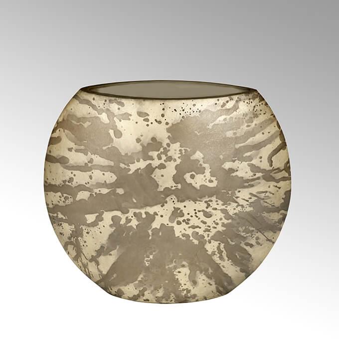 Lambert Adia Vase gross oval braun/creme