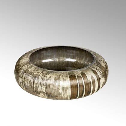 lambert adia schale glas schlank gross oval ausf hrung braun creme vintage h13 d41 lambert. Black Bedroom Furniture Sets. Home Design Ideas