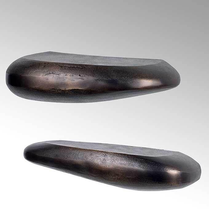 Lambert Ciottolo Alu-Wandablage, patina verschiedene Größen