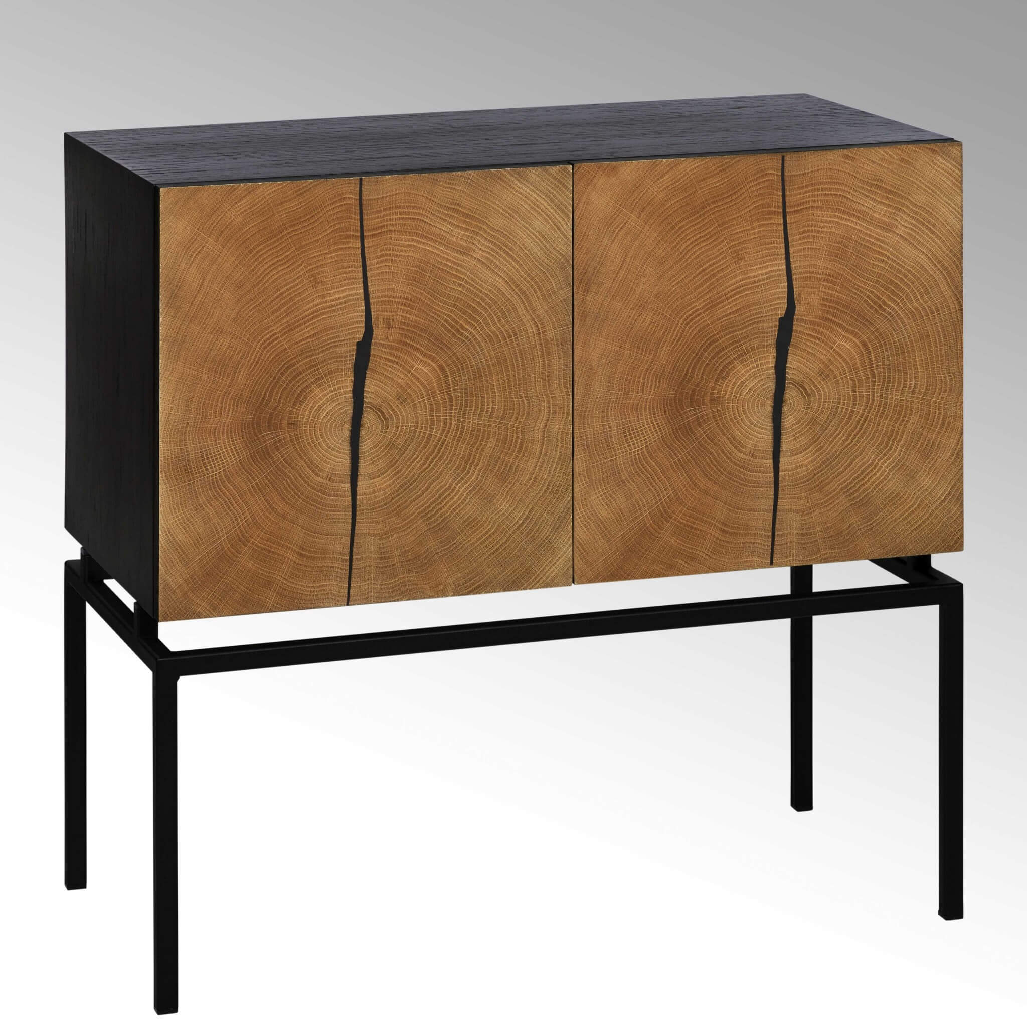 lambert kay eiche sideboard schwarz t ren mit. Black Bedroom Furniture Sets. Home Design Ideas