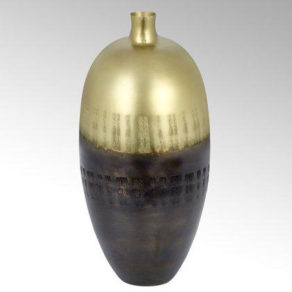 Akaya Gefäß rund groß patina gold 40843