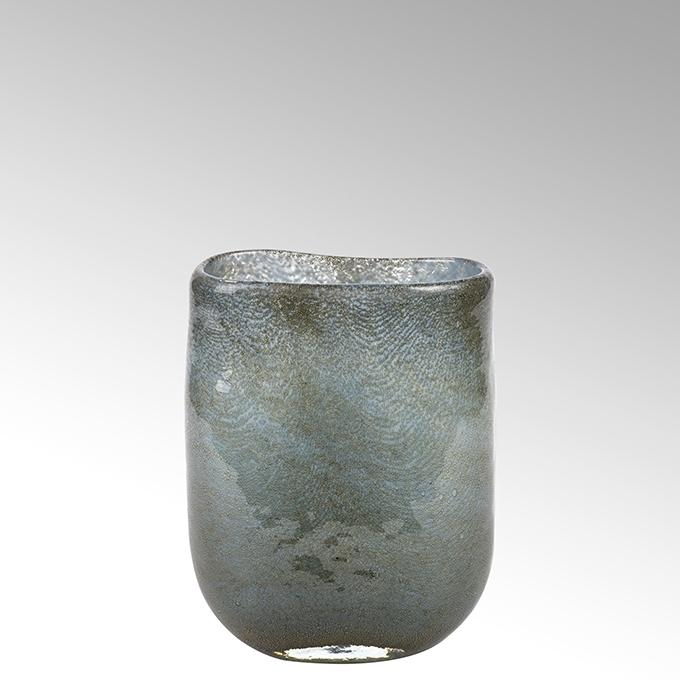 Lambert Cellini Vase oval petrol H 21,5 cm