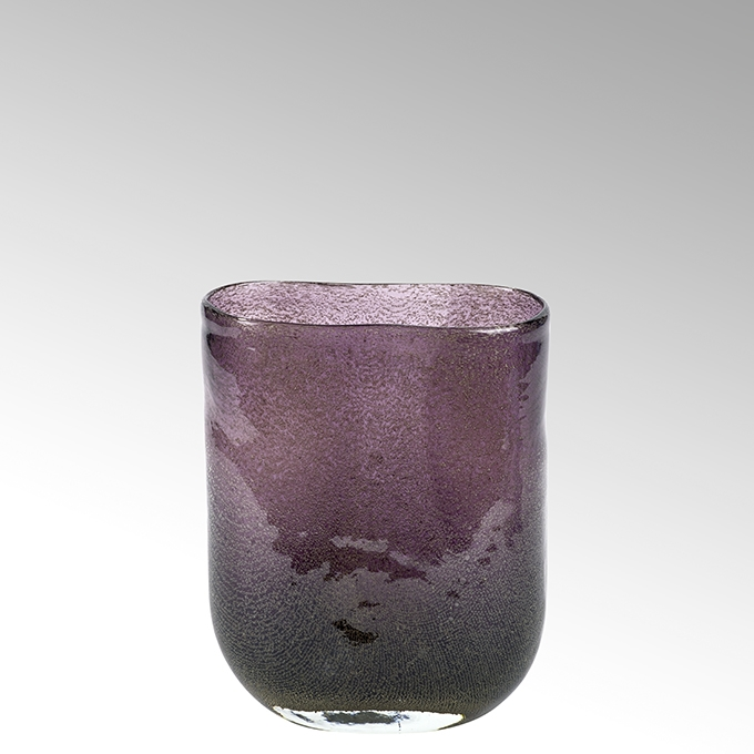 Lambert Cellini Vase oval purple H 21,5 cm