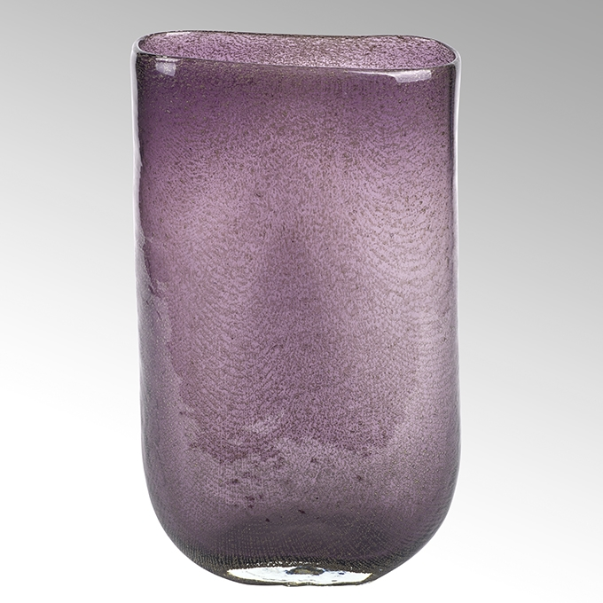 Lambert Cellini Vase oval purple H 30 cm