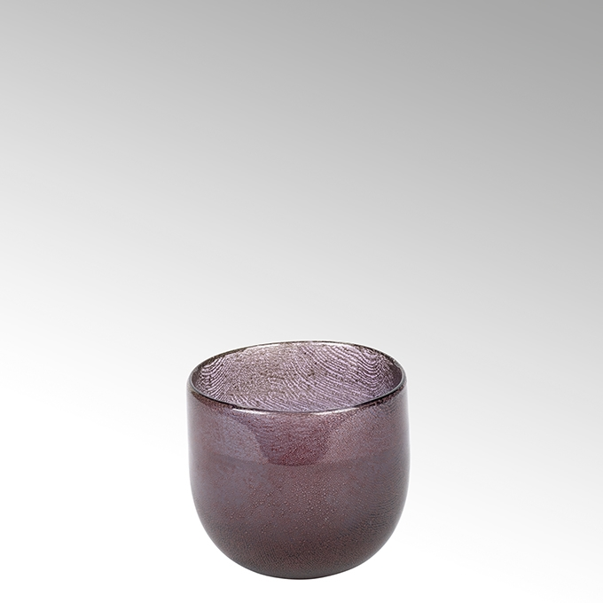 Lambert Cellini Vase rund purple H 12 cm