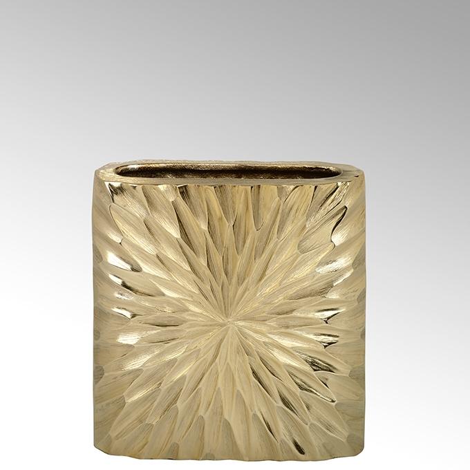 Lambert Crisant Gefäß oval klein matt gold