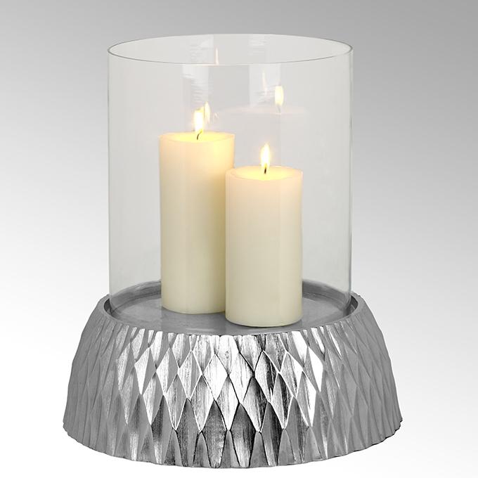 Lambert Crisant Windlicht mit Glas groß