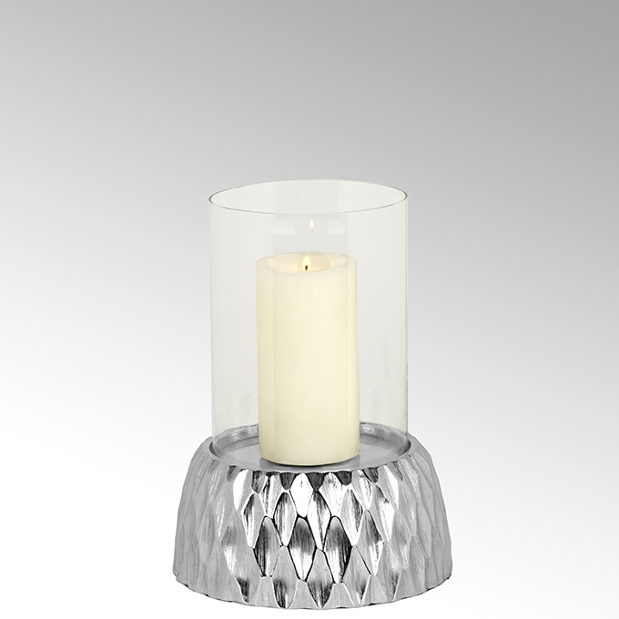 Lambert Crisant Windlicht mit Glas klein