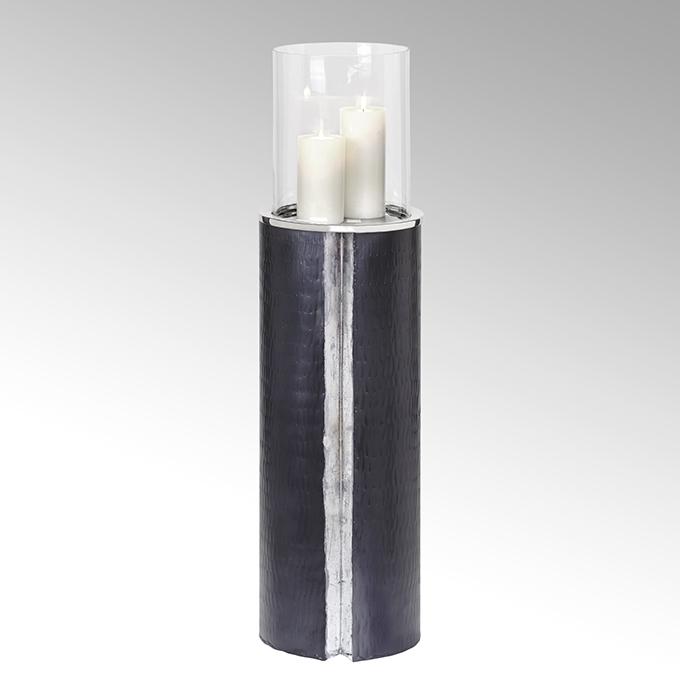 Lambert Maio Bodenwindlicht mit Glaseinsatz Aluminium groß