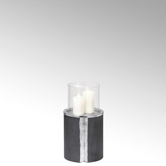 Lambert Maio Bodenwindlicht mit Glaseinsatz Aluminium klein