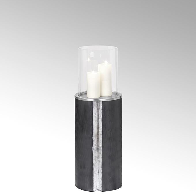 Lambert Maio Bodenwindlicht mit Glaseinsatz Aluminium mittel