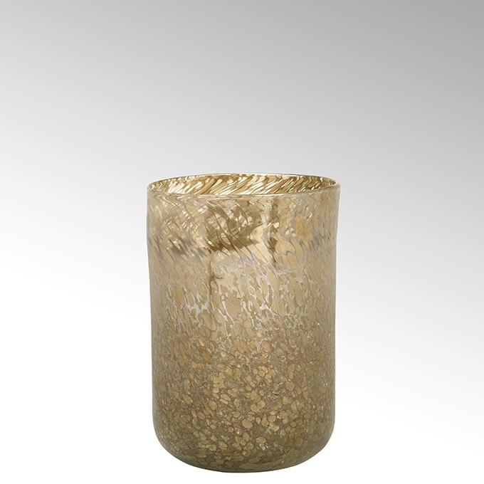 Lambert Paolo Vase caramel-rosé-gold H 30cm
