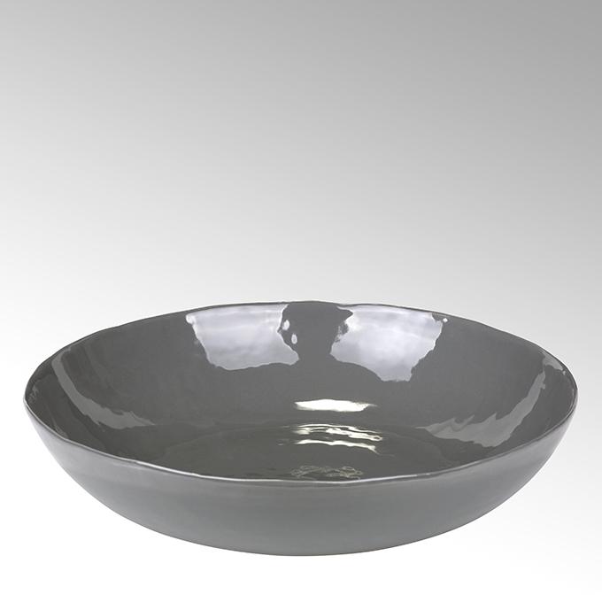 Lambert Piana Schüssel Stoneware, anthrazit H6 Ø33cm