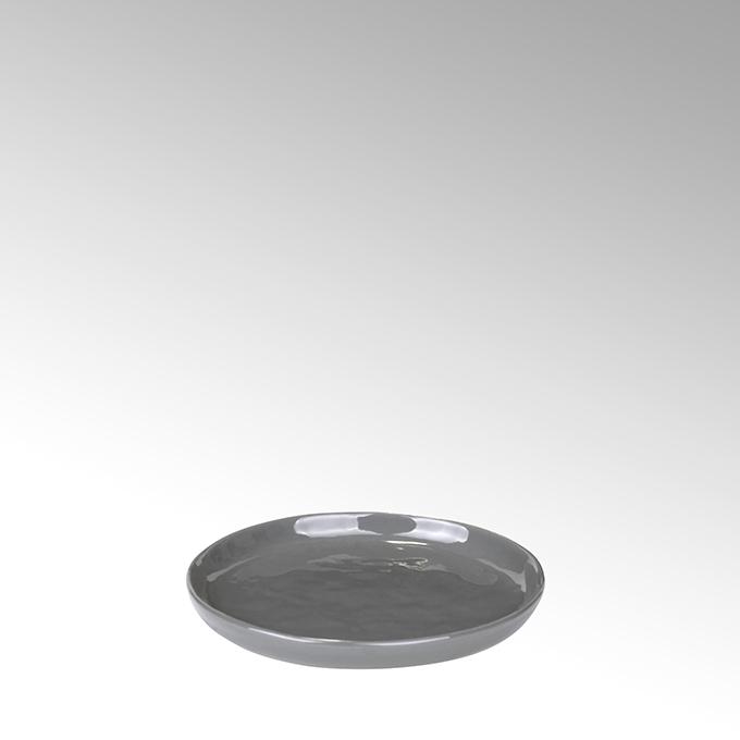 Lambert Piana Teller rund Stoneware, anthrazit Ø13,5 cm