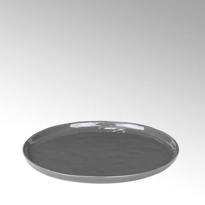 Lambert Piana Teller rund Stoneware, anthrazit Ø21,5 cm
