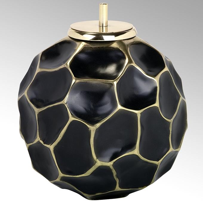 Lambert Safi Gefäß / Dose mit Kerze Aluminium