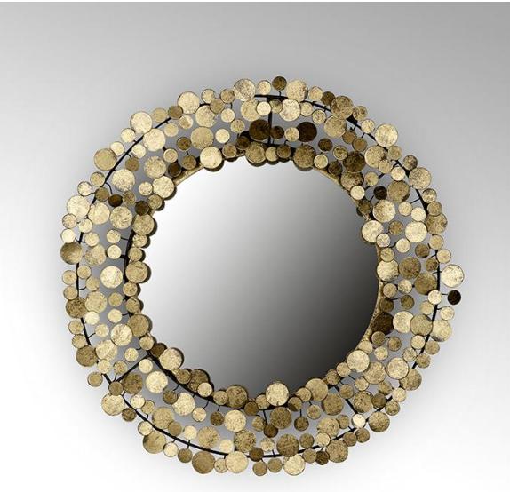 Lambert Midas Spiegel Eisen/ Blattmetall gold