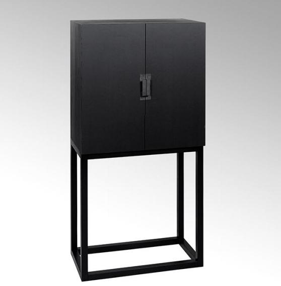 lambert mingkasa linoleum kabinettschrank korpus und untergestell eiche massiv schwarz gebeizt. Black Bedroom Furniture Sets. Home Design Ideas