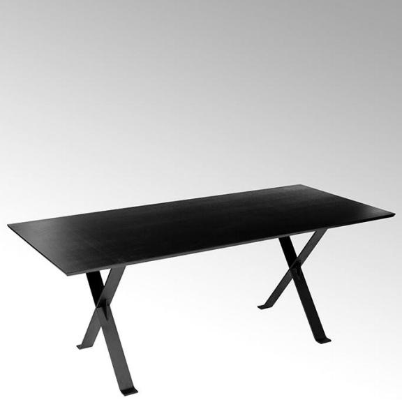 Lambert Stanley Tisch Metallgestell mattschwarz