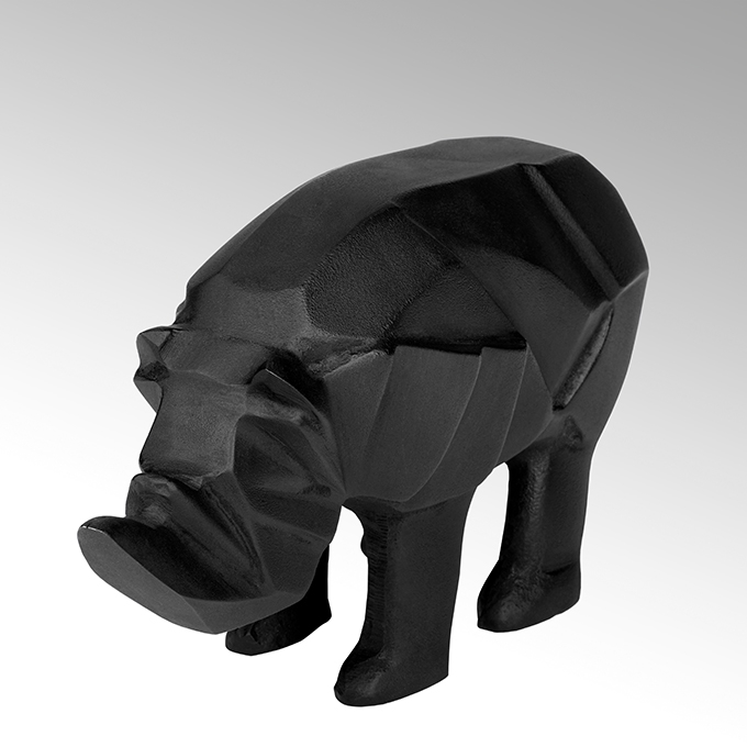 Lambert Rhino Figur Aluminium