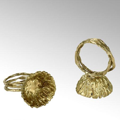 Lambert Fiorita Serviettenring rund goldfarbig