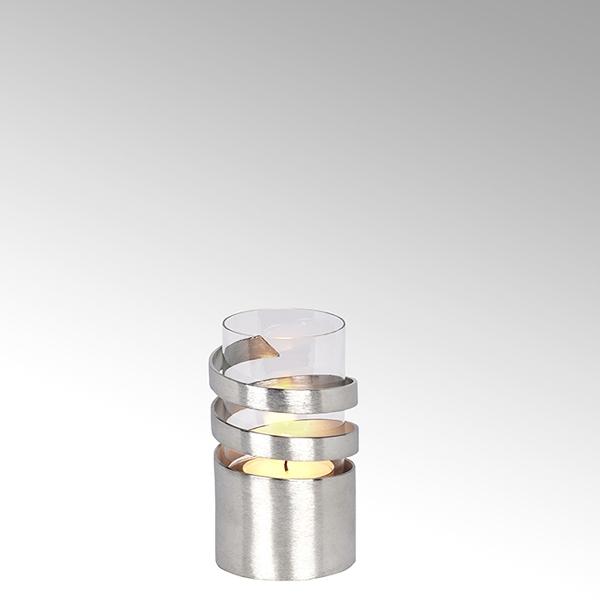 Lambert Spiral Windlicht Aluminium mini