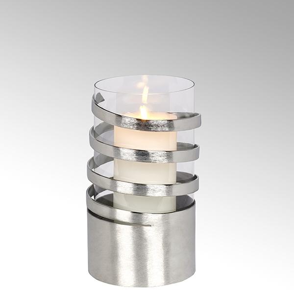 Lambert Spiral Windlicht Aluminium mittel