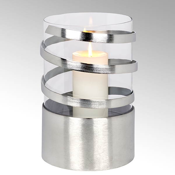 Lambert Spiral Windlicht Aluminium groß