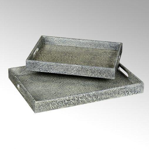Lambert Karoo Tablett 2er Satz grau