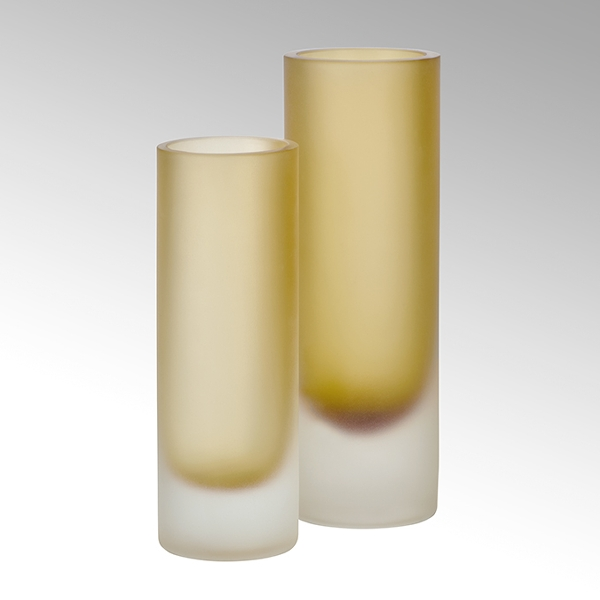 Canova Vase senfgeld/gefrostet