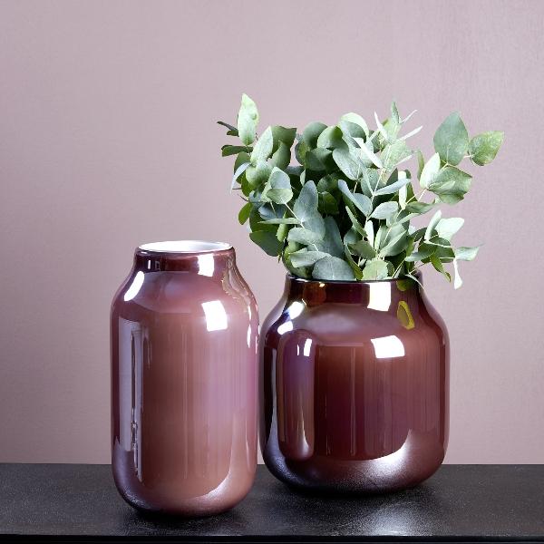 Lambert Ferrata Vase bordeaux/metallic
