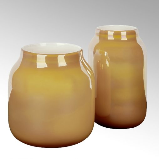 Lambert Ferrata Vase safran/metallic
