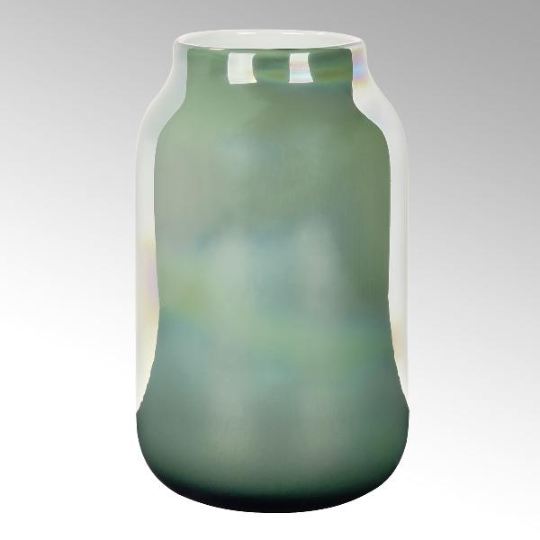 Lambert Ferrata Vase smaragd/metallic
