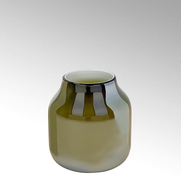 Lambert Ferrata Vase oliv/metallic