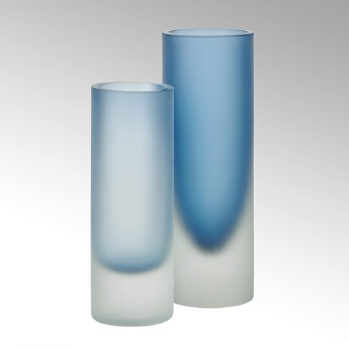 Canova Vase indigo/gefrostet